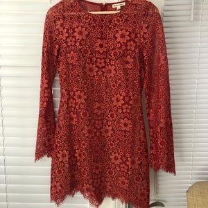For love of lemons lace dress w/ silk slip